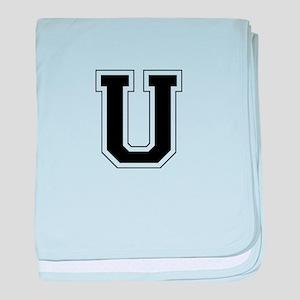 Collegiate Monogram U baby blanket