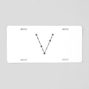 Barbed Wire Monogram V Aluminum License Plate