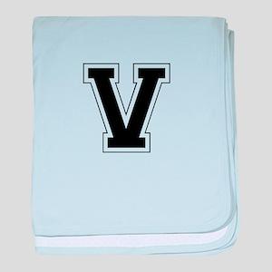 Collegiate Monogram V baby blanket