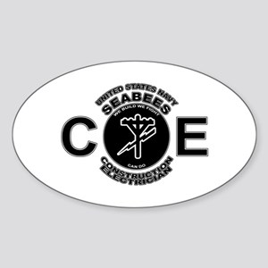 USN Seabees CE Construction Electrician Sticker