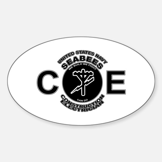 USN Seabees CE Construction Electrician Decal