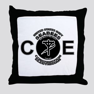 USN Seabees CE Construction Electrician Throw Pill