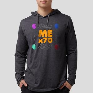 Happy 70th Birthday Mens Hooded Shirt