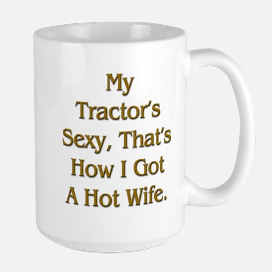 Sexy Tractor Hot Wife Large Mug