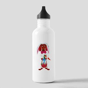Dachshund Easter Bunny Water Bottle