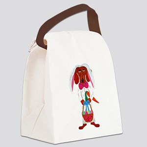 Dachshund Easter Bunny Canvas Lunch Bag