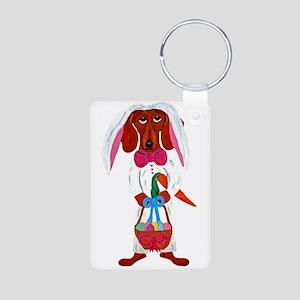Dachshund Easter Bunny Keychains