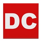 DC (Red and White) Tile Coaster