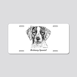 Brittany Spaniel Aluminum License Plate