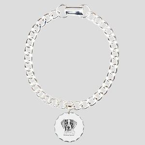 Brittany Spaniel Charm Bracelet, One Charm
