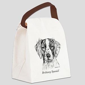 Brittany Spaniel Canvas Lunch Bag