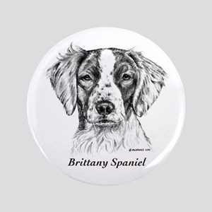 "Brittany Spaniel 3.5"" Button"