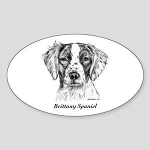 Brittany Spaniel Sticker (Oval)