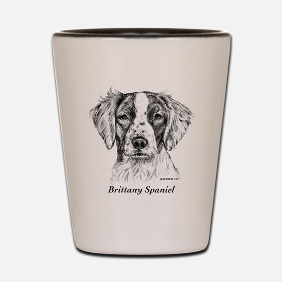 Brittany Spaniel Shot Glass