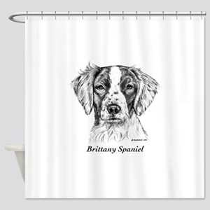 Brittany Spaniel Shower Curtain
