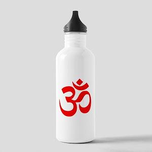 Red Om Water Bottle