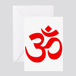 Red Om Greeting Card