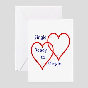 Single ready to mingle Greeting Card