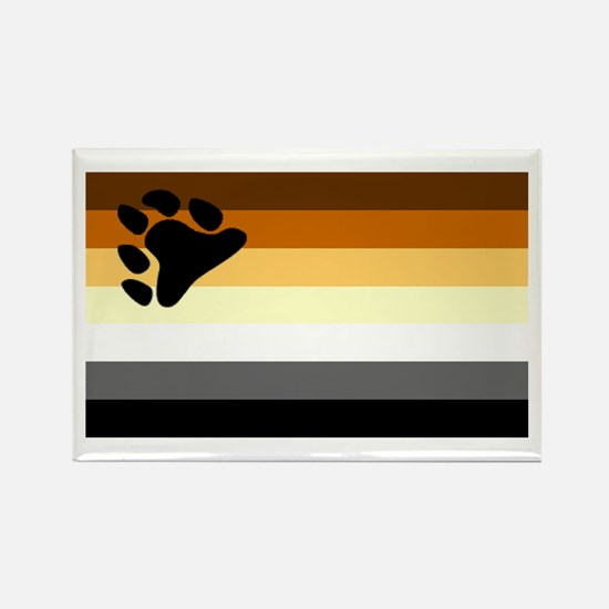 Bear Paw Flag Rectangle Magnet