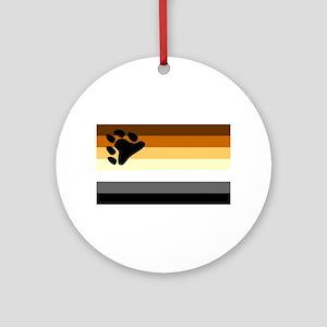 Bear Paw Flag Ornament (Round)