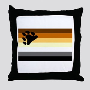 Bear Paw Flag Throw Pillow