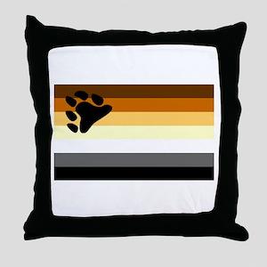 Bear Paw Flag Throw Pillow