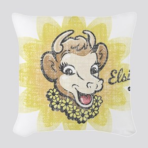 Distressed Vintage Elsie Woven Throw Pillow