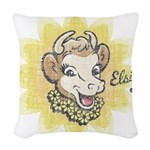Distressed Vintage Elsie Woven Throw Pillow