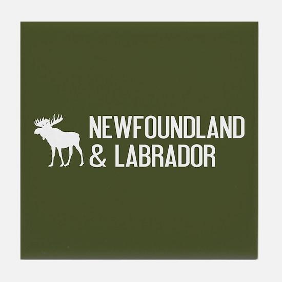 Newfoundland and Labrador Moose Tile Coaster
