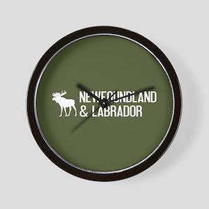 Newfoundland and Labrador Moose Wall Clock