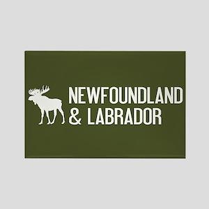 Newfoundland and Labrador Moose Rectangle Magnet
