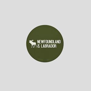 Newfoundland and Labrador Moose Mini Button