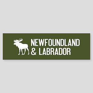 Newfoundland and Labrador Moose Sticker (Bumper)