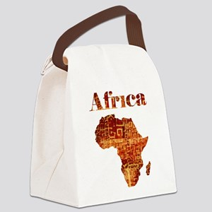 Ethnic Africa Canvas Lunch Bag