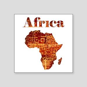 "Ethnic Africa Square Sticker 3"" x 3"""