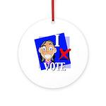 I Vote Ornament (Round)