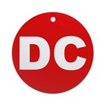 DC (Red and White) Ornament (Round)