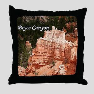 Bryce Canyon, Utah 3 (caption) Throw Pillow
