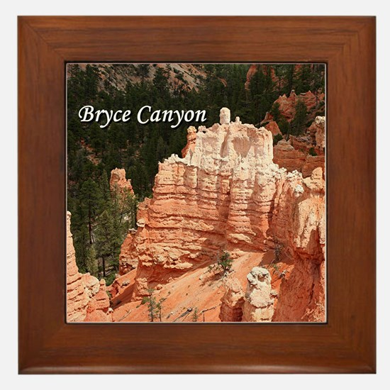 Bryce Canyon, Utah 3 (caption) Framed Tile
