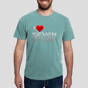 I Heart Seven of Nine Mens Comfort Colors Shirt