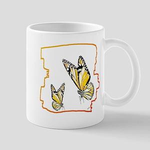 two butterflies art illustration Mug