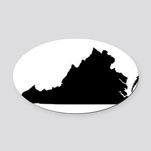 Black Oval Car Magnet