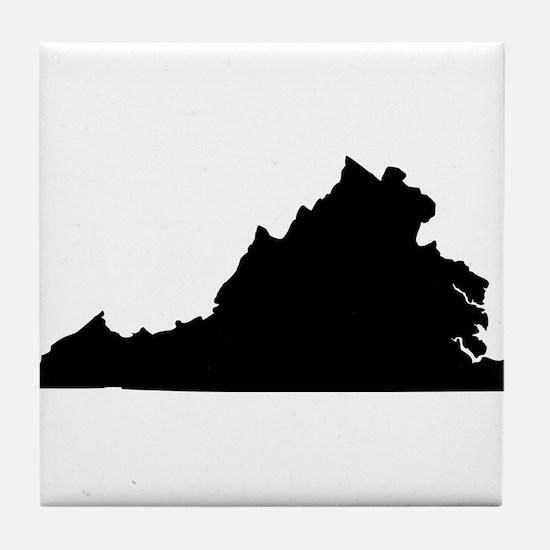 Black Tile Coaster