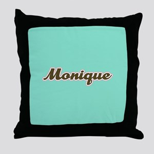 Monique Aqua Throw Pillow