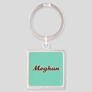 Meghan Aqua Square Keychain