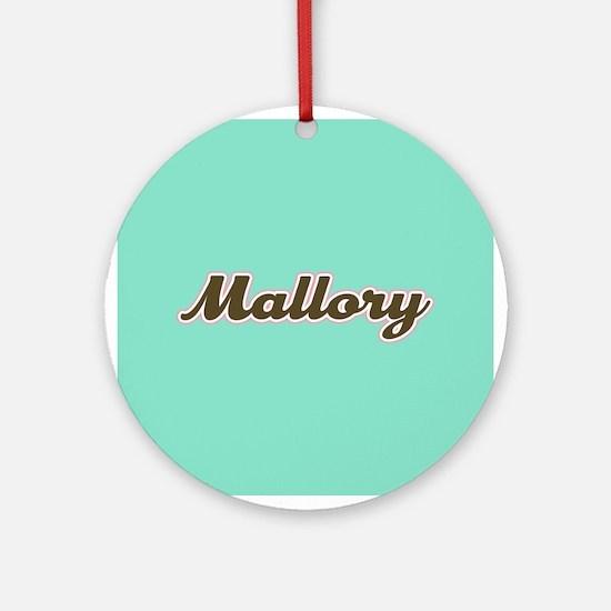 Mallory Aqua Ornament (Round)