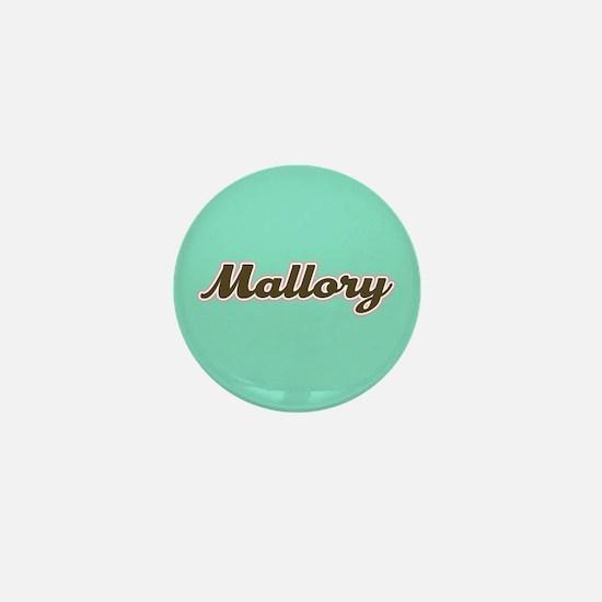 Mallory Aqua Mini Button