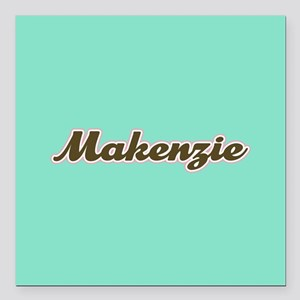 "Makenzie Aqua Square Car Magnet 3"" x 3"""