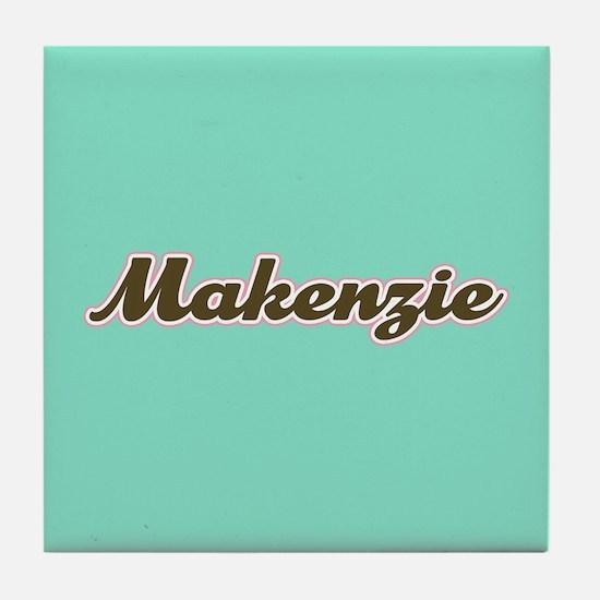 Makenzie Aqua Tile Coaster