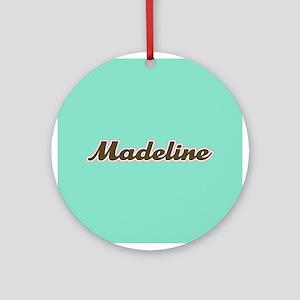Madeline Aqua Ornament (Round)